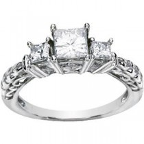 Moissanite Anniversary Rings (1.2 Ct. tw.) (1.2 Ct. tw.)