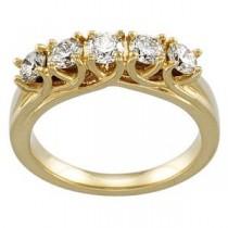 Five Stone Diamond Anniversary Rings (1 Ct. tw.) (1 Ct. tw.)
