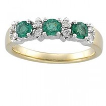 Diamond Gemstone Anniversary Rings  (0.1 Ct. tw.) (0.1 Ct. tw.)