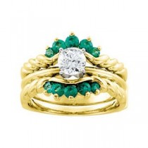 Emerald Bridal Ring Enhancer
