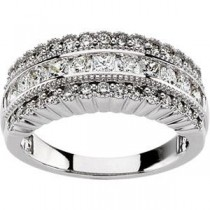 Pave Diamond Anniversary Rings (1 Ct. tw.) (1 Ct. tw.)