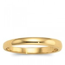 Tapered Half Round Wedding Band (2.50 mm)