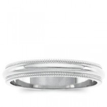 Classic Milgrain Wedding Band (3.00 mm)
