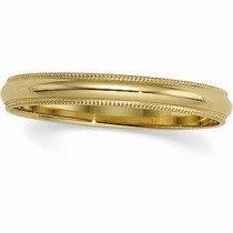 Light Milgrain Wedding Band (3.00 mm)