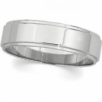 Edge Flat Wedding Band (3.00 mm)