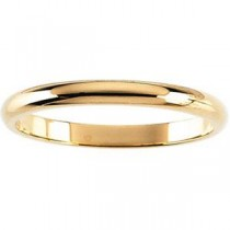Classic Half Round Wedding Band (3.00 mm)
