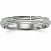 Edge Half Round Wedding Band (3.00 mm)