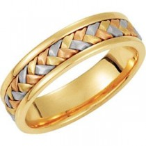 Tri Color Hand Woven Band (5.00 mm)