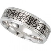 Enameled Comfort Fit Wedding Band (7.00 mm)