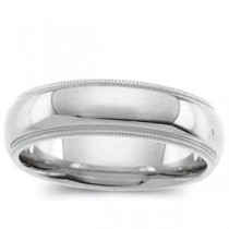 Light Comfort Fit Milgrain Band (5.00 mm)