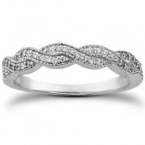 Pave Diamond Bridal Band in 14K Yellow Gold