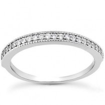 Matching Pave Band in 14K Yellow Gold