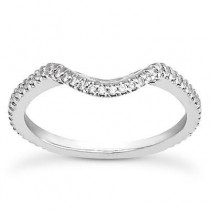 Pave Diamond Engagement Band in 14K Yellow Gold