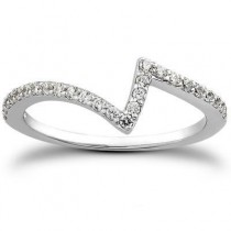 Bridal Pave Engagement Band in 14K Yellow Gold