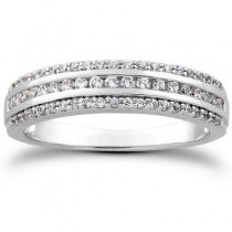 Fashion Matching Bridal Band in 14K White Gold