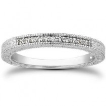 Antique Pave Bridal Band in 14K Yellow Gold