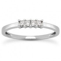 Princess Cut Band in 14K Yellow Gold