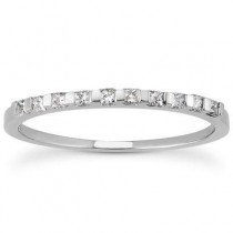 Stylish Princess Cut Band in 14K Yellow Gold