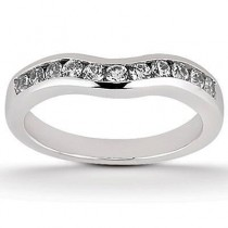 Round Diamond Cut Engagement Band in 14K Yellow Gold