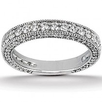Pave Engagement Band in 14K Yellow Gold