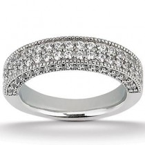 Pave Wedding Band in 14K Yellow Gold