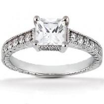 Princess Cut Diamond Engagement Ring in 14K Yellow Gold