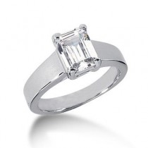 Emerald Cut Solitaire Ring in 14K Yellow Gold
