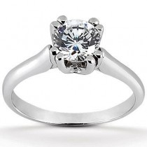 Round Solitaire Ring in 14K Yellow Gold