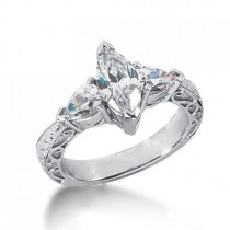 Timeless Antique Marquise Diamond Ring in 14K Yellow Gold