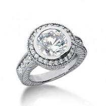Stunning Round Diamond Wedding Ring in 14K Yellow Gold