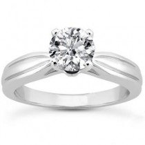 Round Solitaire Diamond Ring in 14K Yellow Gold
