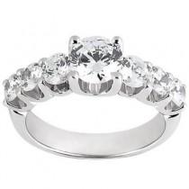 Elegant Round Center Stoned Wedding Ring in 14K Yellow Gold