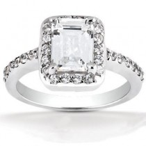 Emerald Cut Engagement Ring in 14K Yellow Gold