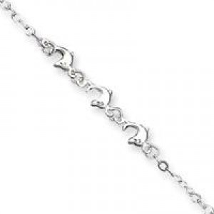 Dolphins Anklet in Sterling Silver