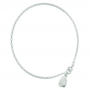 Shell Anklet in Sterling Silver