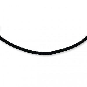 18 inch Black Satin Cord in Sterling Silver