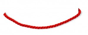 18 inch Red Satin Cord in Sterling Silver