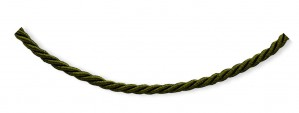 18 inch Green Satin Cord in Sterling Silver