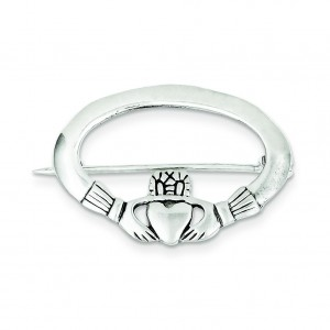 Claddagh Pin in Sterling Silver