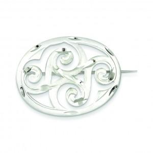 Scroll Pin in Sterling Silver