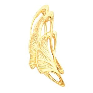 Abstract Leaf Brooch in 14k Yellow Gold