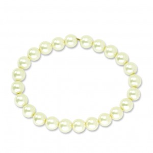 Cultura Glass Pearl Stretch Bracelet in Fashion