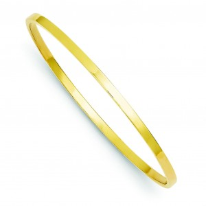 Square Tube Bangle in 14k Yellow Gold