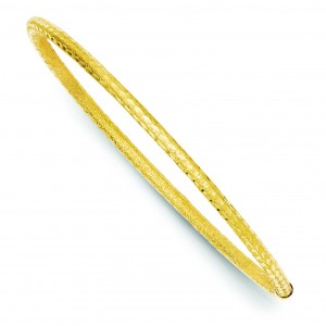 Tube Slip On Bangle in 14k Yellow Gold