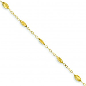 Puff Rice Bead Bracelet in 14k Yellow Gold