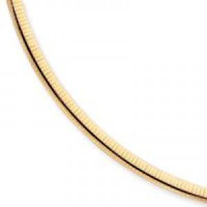 Domed Omega Bracelet in 14k Yellow Gold