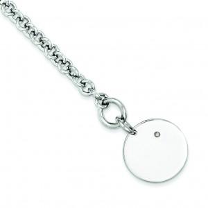 Diamond Disc Bracelet in Sterling Silver