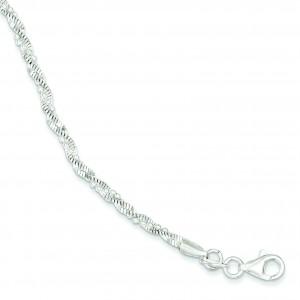 Twisted Beaded Bracelet in Sterling Silver