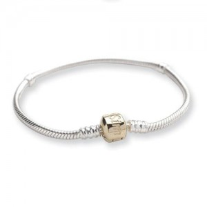 Bead Bracelet in Sterling Silver & Gold Plated