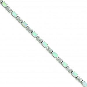 7inch Opal Illusion Bracelet in Sterling Silver